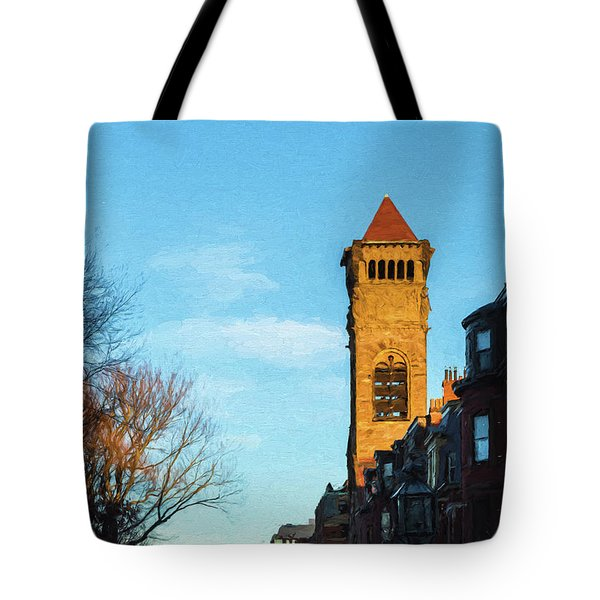 Commonwealth Avenue In Boston Tote Bag