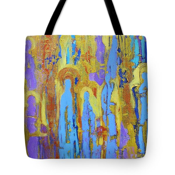 Communion Of Saints Tote Bag by Elise Ritter