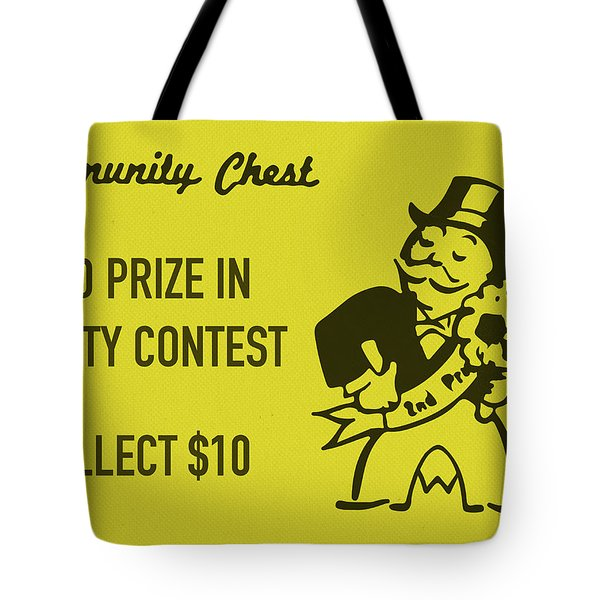 Community Chest Vintage Monopoly Board Game 2nd Prize In Beauty Contest Tote Bag