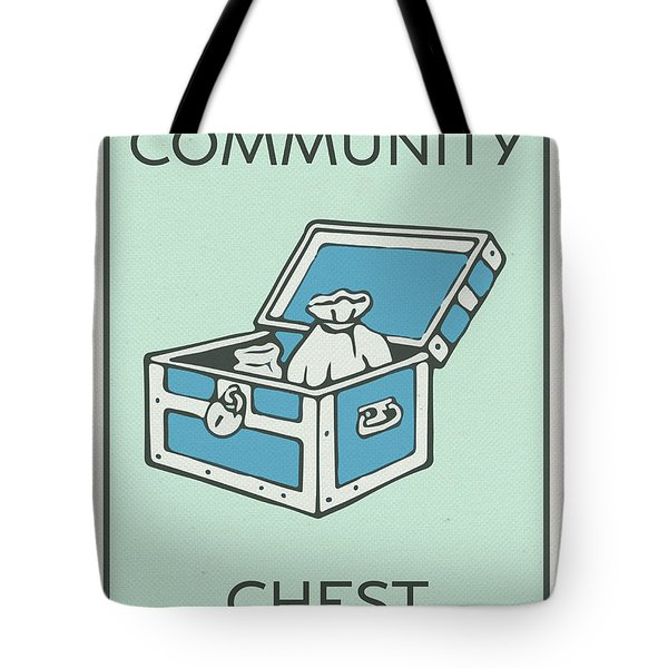 Community Chest Vintage Monopoly Board Game Theme Card Tote Bag