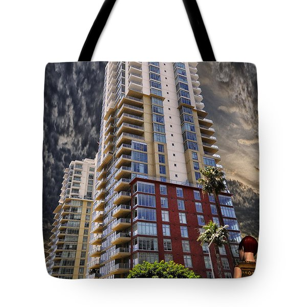 Comotion Near The Pike Tote Bag by Bob Winberry