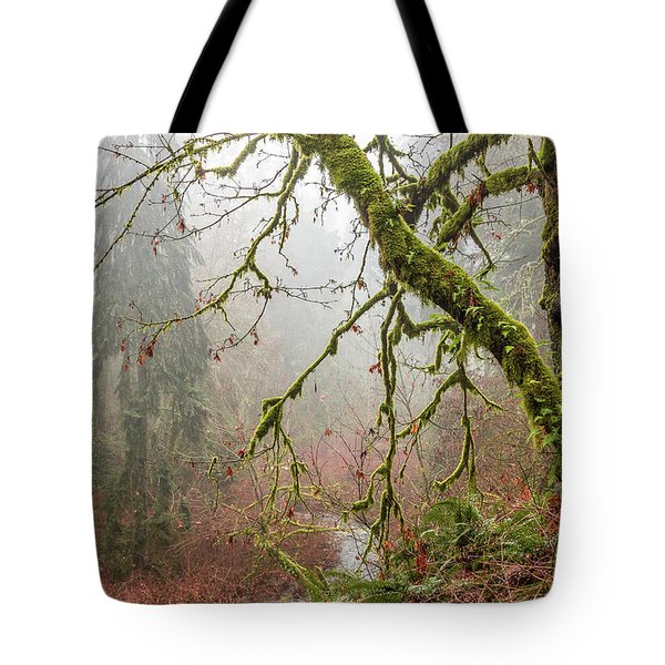 Mist In The Forest Tote Bag