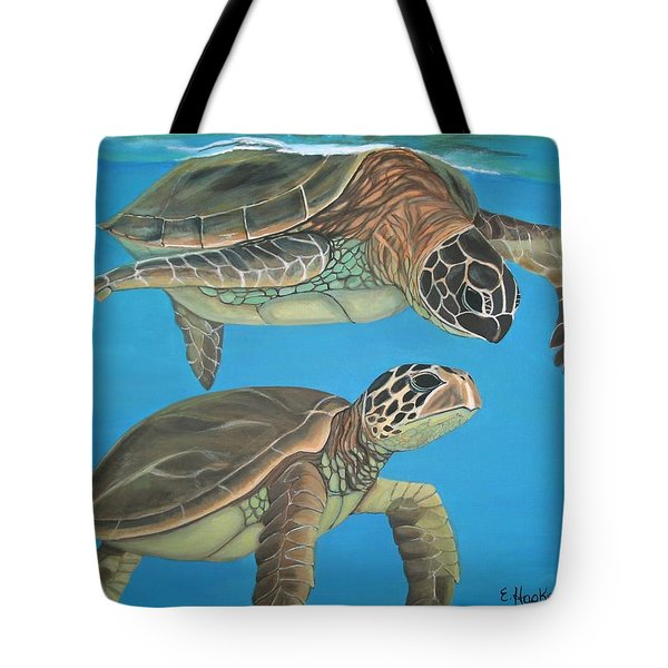 Companions Of The Sea Tote Bag by Elaine Haakenson