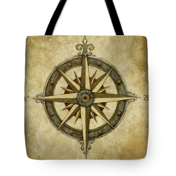 Compass Rose Tote Bag by Judy Merrell