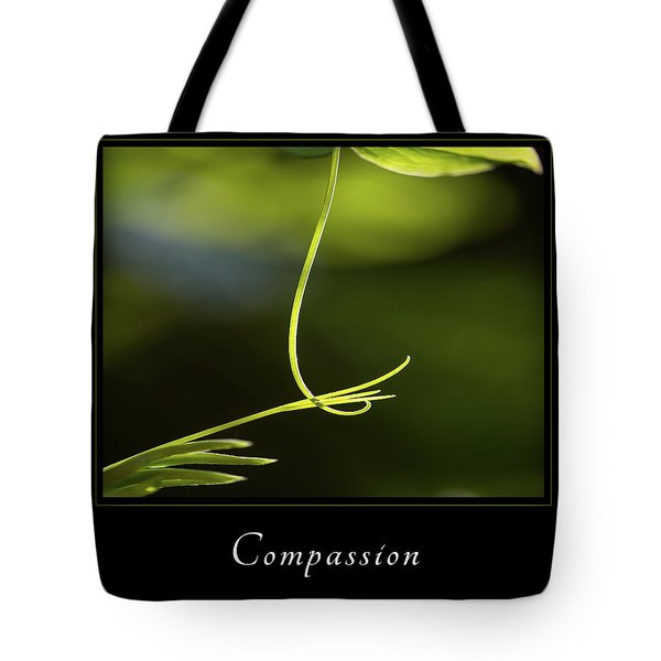 Tote Bag featuring the photograph Compassion 2 by Mary Jo Allen