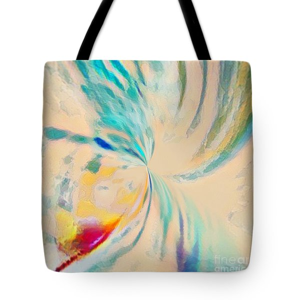 Tote Bag featuring the mixed media Compassion by Jessica Eli