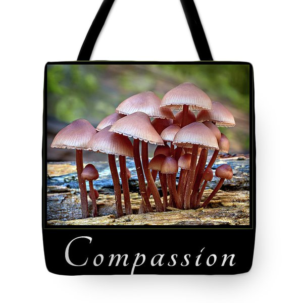 Tote Bag featuring the photograph Compassion by Mary Jo Allen