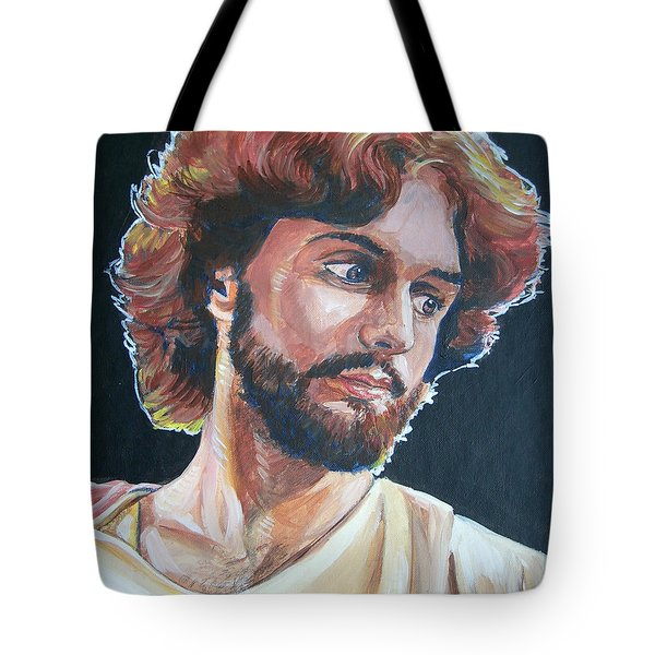 Tote Bag featuring the painting Compassionate Christ by Bryan Bustard