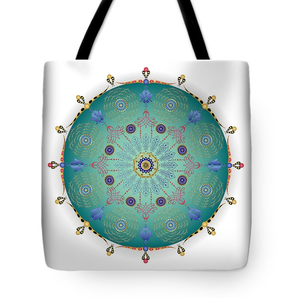 Tote Bag featuring the digital art Complexical No 1745 by Alan Bennington