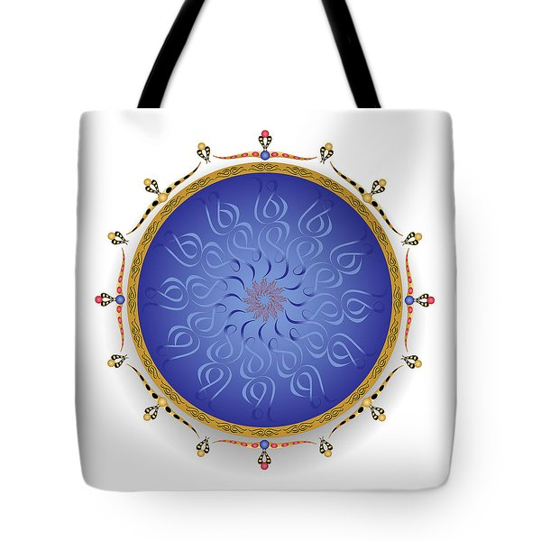 Tote Bag featuring the digital art Complexical No 1748 by Alan Bennington