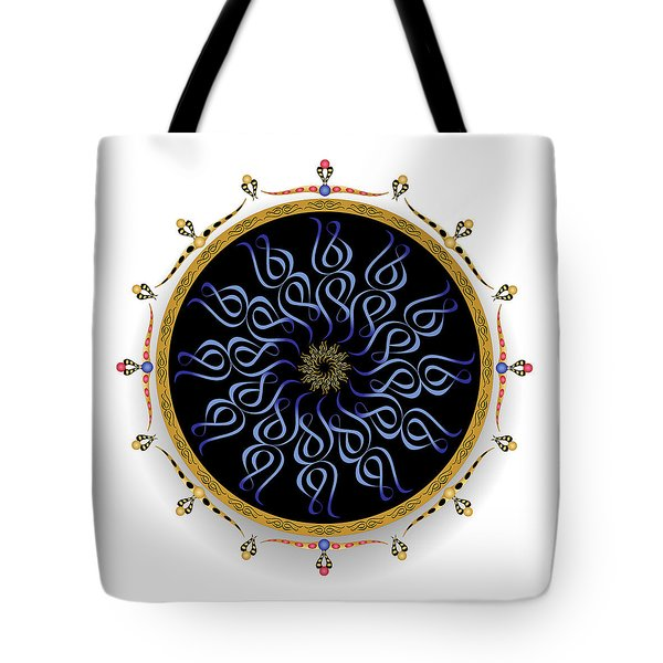 Tote Bag featuring the digital art Complexical No 1749 by Alan Bennington