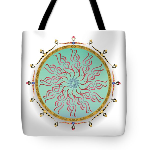 Tote Bag featuring the digital art Complexical No 1751 by Alan Bennington