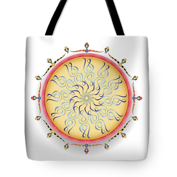 Tote Bag featuring the digital art Complexical No 1753 by Alan Bennington
