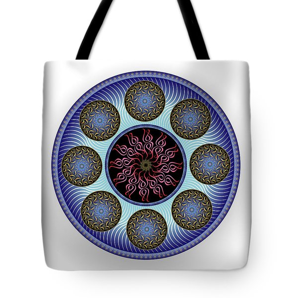 Tote Bag featuring the digital art Complexical No 1757 by Alan Bennington