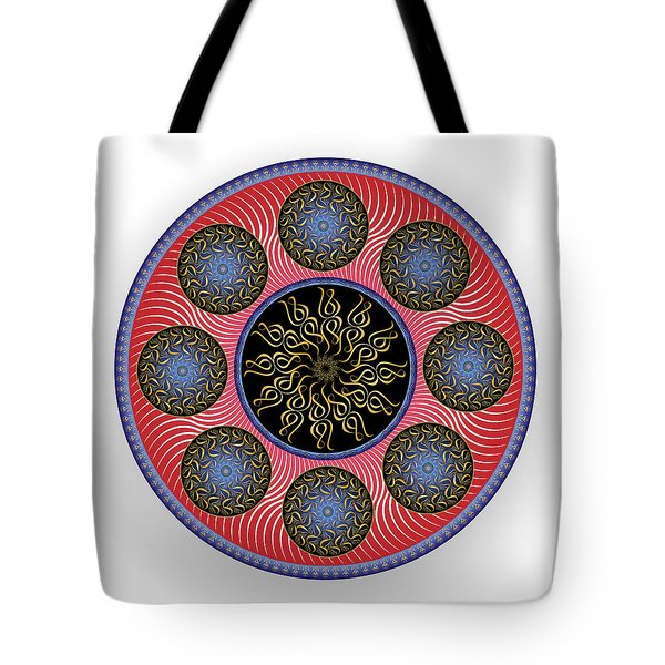 Tote Bag featuring the digital art Complexical No 1758 by Alan Bennington