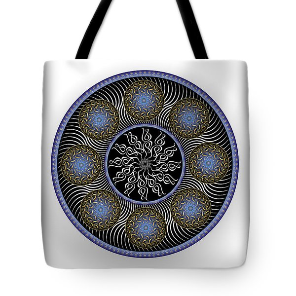 Tote Bag featuring the digital art Complexical No 1759 by Alan Bennington