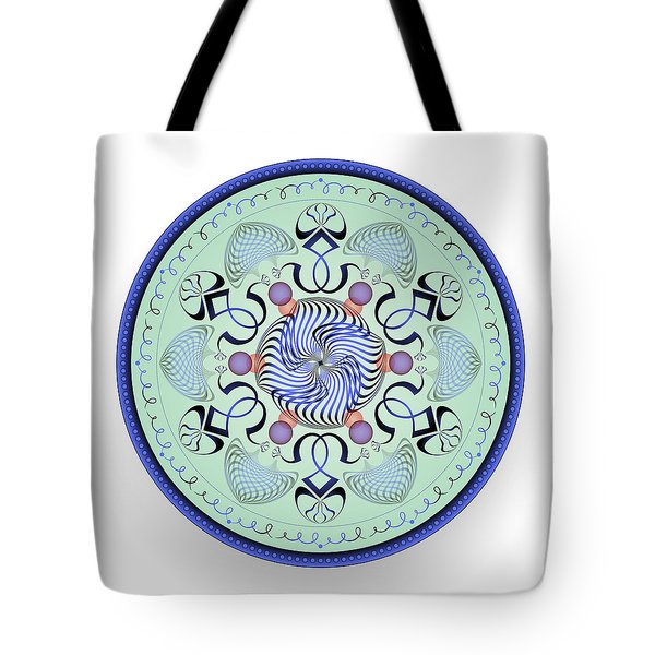 Tote Bag featuring the digital art Complexical No 1761 by Alan Bennington