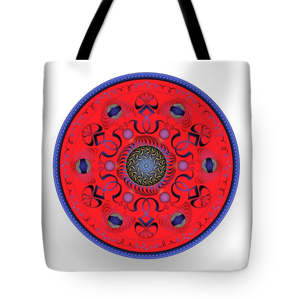Tote Bag featuring the digital art Complexical No 1765 by Alan Bennington