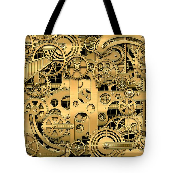 Complexity And Complications - Clockwork Gold Tote Bag