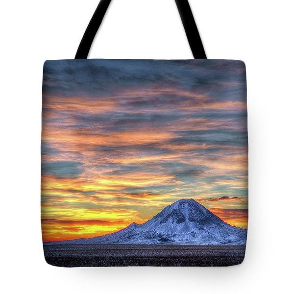 Complicated Sunrise Tote Bag by Fiskr Larsen