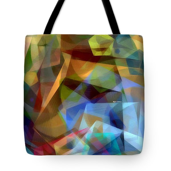 Tote Bag featuring the digital art Complicated Sunset by Rafael Salazar