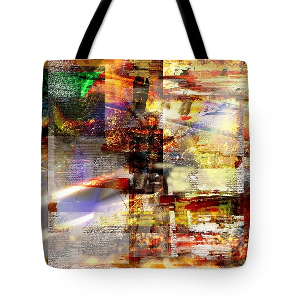 Tote Bag featuring the digital art Complicity Of Green by Art Di