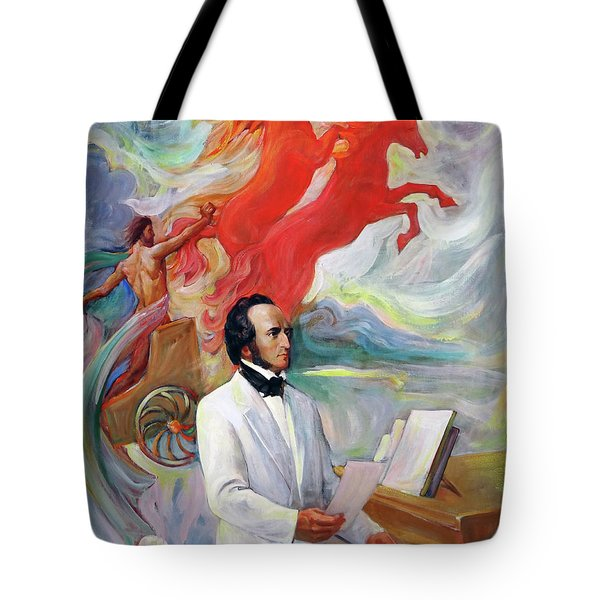 Composer Felix Mendelssohn Tote Bag
