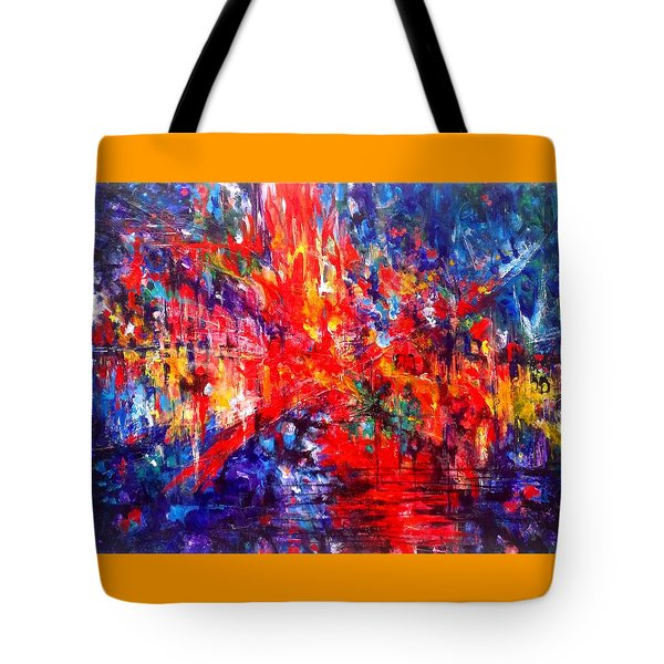 Composition # 1. Series Abstract Sunsets Tote Bag