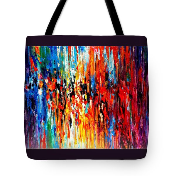 Composition # 4. Series Abstract Sunsets Tote Bag