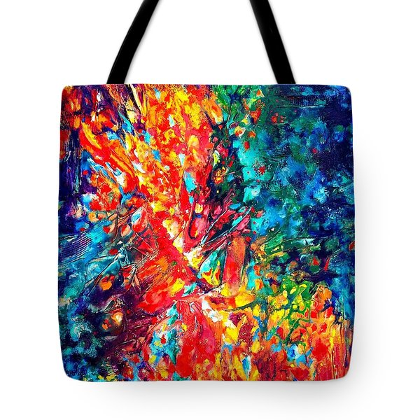 Composition #3. Abstract Sunsets.  Tote Bag