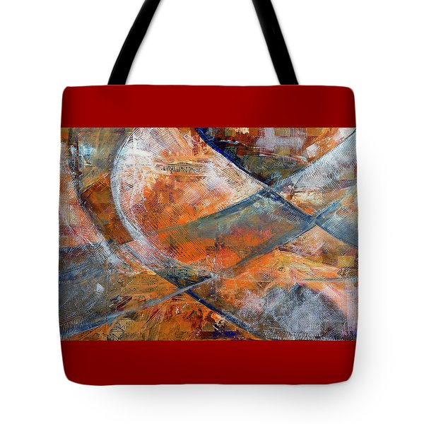 Tote Bag featuring the painting Composition Hieroglyphe by Walter Fahmy