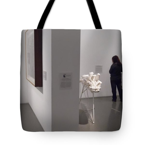 Composition In White, Black And Gray, Tote Bag by Esther Newman-Cohen