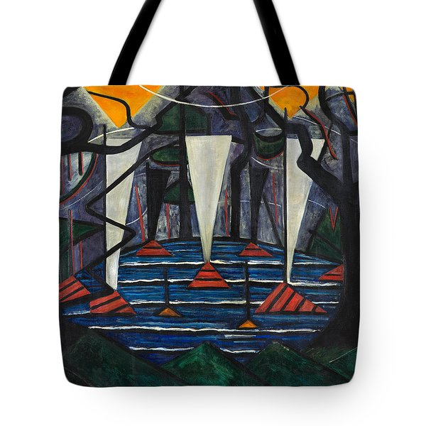 Tote Bag featuring the painting Composition No. 23 by Jacoba van Heemskerck