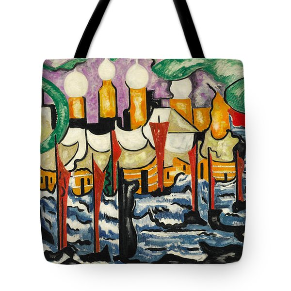 Tote Bag featuring the painting Composition No.62 by Jacoba van Heemskerck