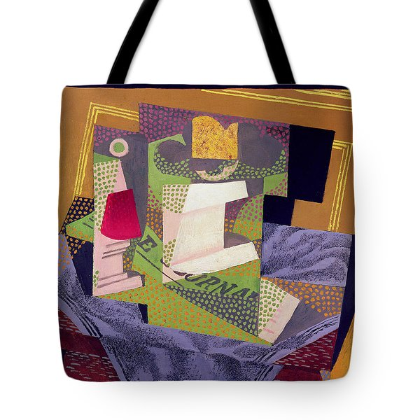 Composition On A Table Tote Bag by Juan Gris