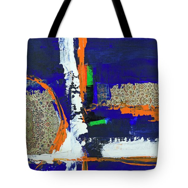 Tote Bag featuring the painting Composition Orientale No 1 by Walter Fahmy