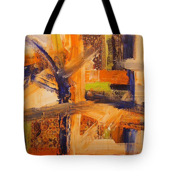 Tote Bag featuring the painting Composition Orientale No 5 by Walter Fahmy