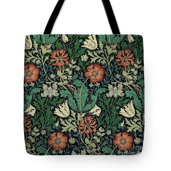Tote Bag featuring the painting Compton by William Morris