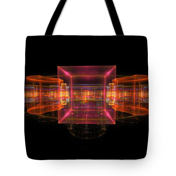 Computer Generated 3d Abstract Fractal Flame Modern Art Tote Bag by Keith Webber Jr