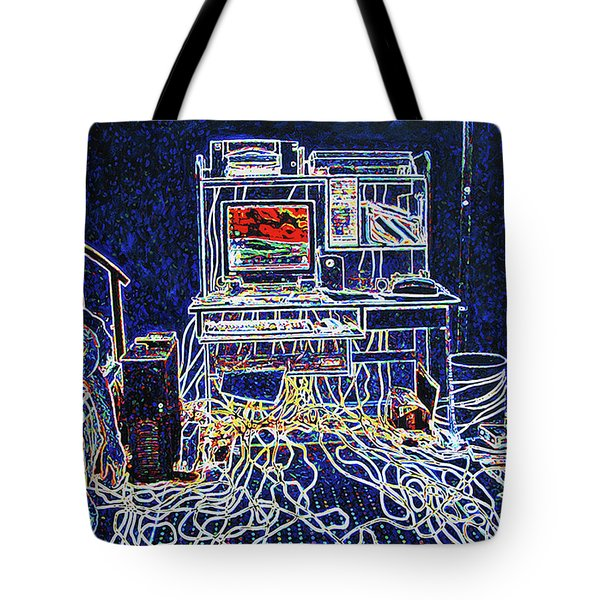 Computers And Wires Tote Bag