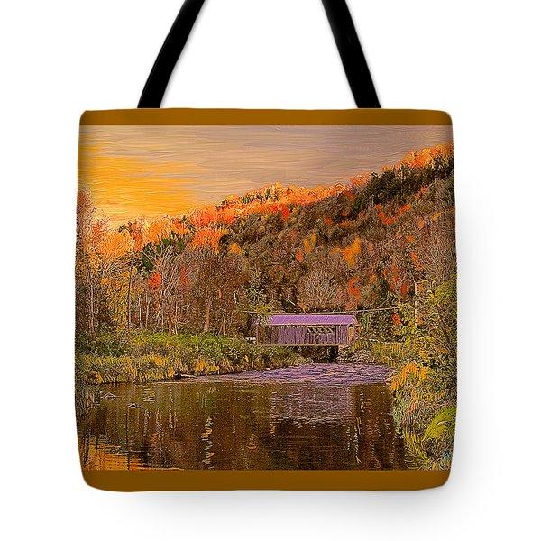 Comstock Bridge Tote Bag