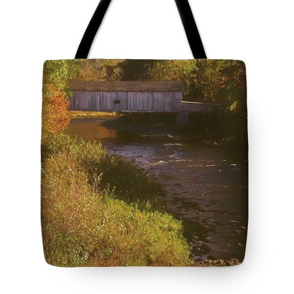 Comstock Covered Bridge Tote Bag