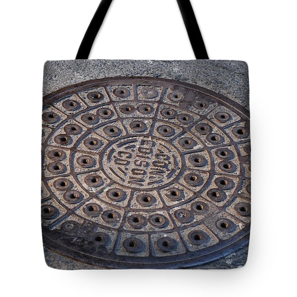Con Ed Sewer Cap Tote Bag by Rob Hans