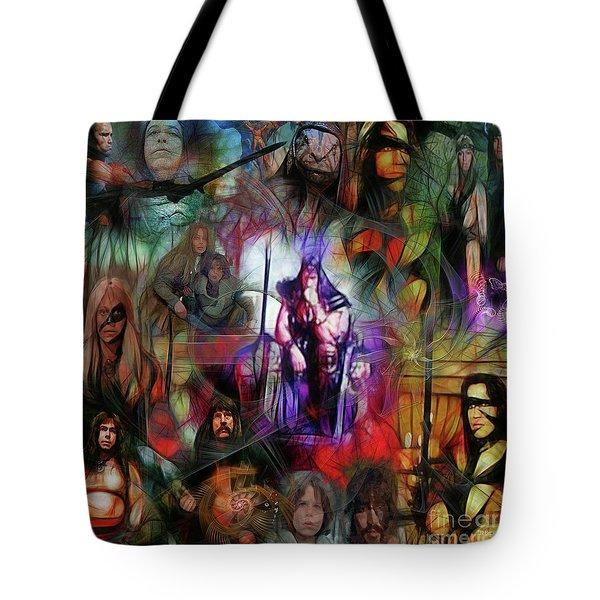 Conan The Barbarian Collage - Square Version Tote Bag