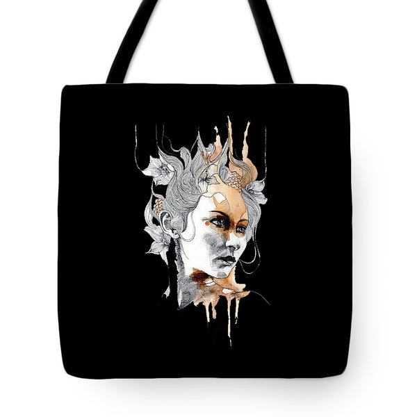 Concerned T-shirt Tote Bag by Herb Strobino