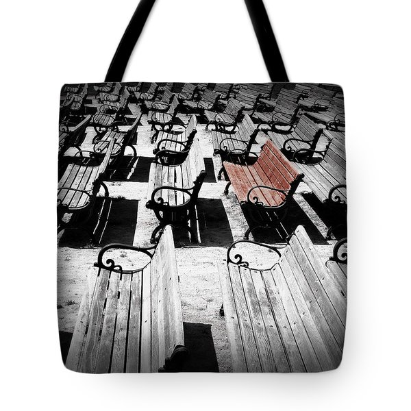 Concert Benches Tote Bag by Perry Webster