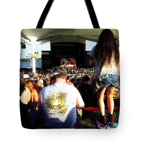 Tote Bag featuring the photograph Concert Crowd by W And F Kreations