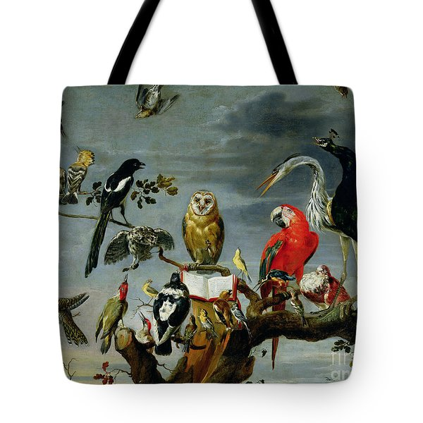 Concert Of Birds Tote Bag by Frans Snijders