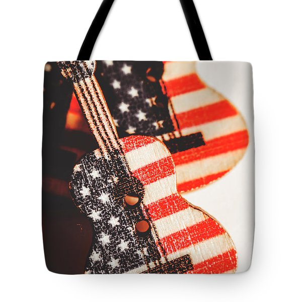 Concert Of Stars And Stripes Tote Bag