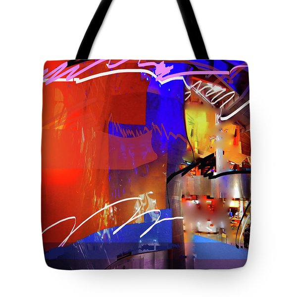 Tote Bag featuring the digital art Concert Stage by Walter Fahmy